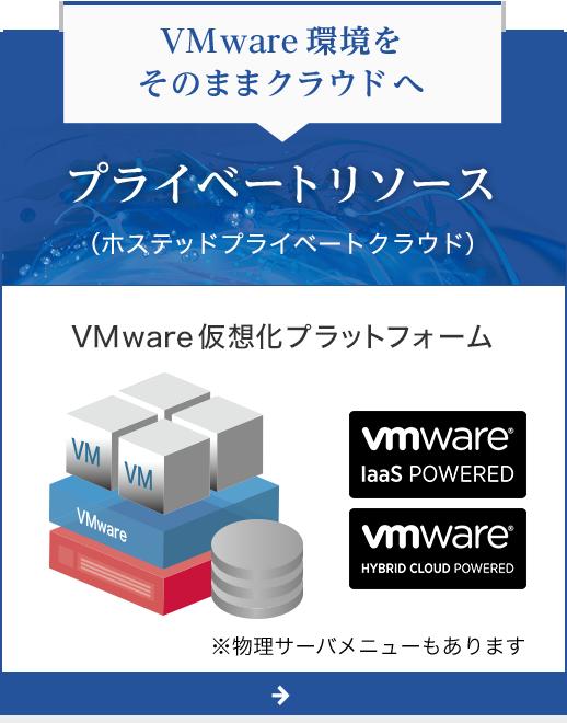 VMware環境をそのままクラウドへ - プライベートリソース(ホステッドプライベートクラウド)